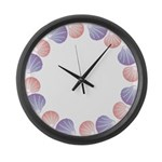 Shells Large Wall Clock