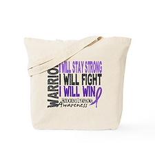 Hodgkin's Lymphoma Warrior Tote Bag