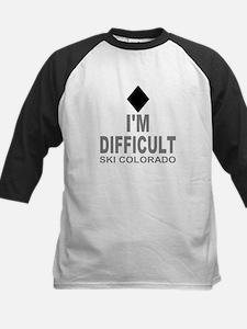 I'm Difficult Ski Colorado Kids Baseball Jersey