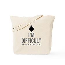 I'm Difficult Ski Colorado Tote Bag