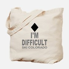I'm Difficult Ski Colorado Tote Bag