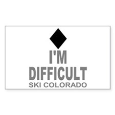I'm Difficult Ski Colorado Decal