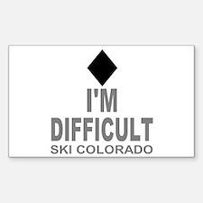I'm Difficult Ski Colorado Sticker (Rectangle)