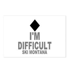 I'm Difficult ~ Ski Montana Postcards (Package of