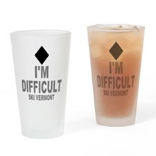 I'm Difficult ~ Ski Vermont Drinking Glass