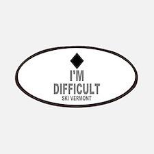 I'm Difficult ~ Ski Vermont Patches
