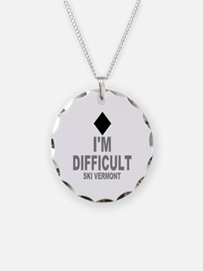 I'm Difficult ~ Ski Vermont Necklace