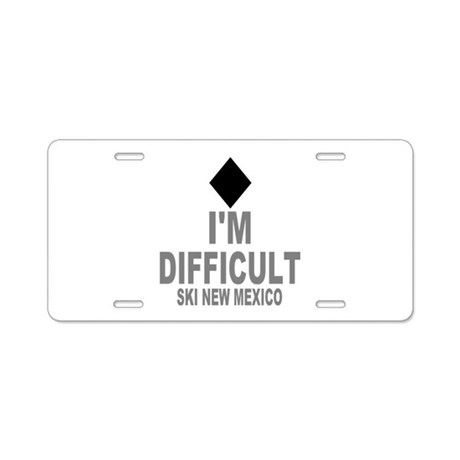 I'm Difficult ~ Ski New mexico Aluminum License Pl