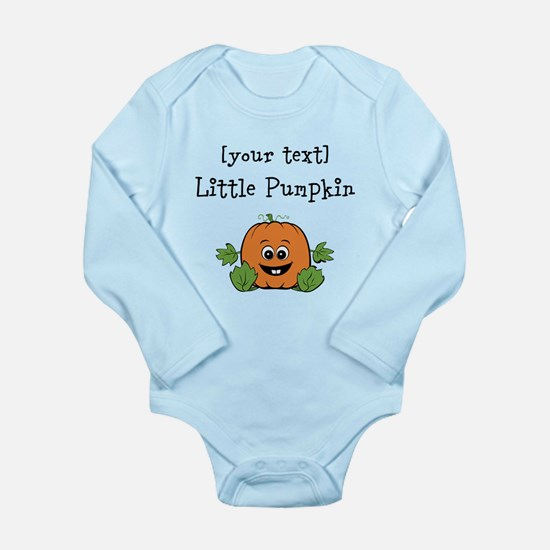 [Personalize] Little Pumpkin Long Sleeve Infant Bo