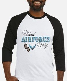 Proud Air Force Wife Baseball Jersey