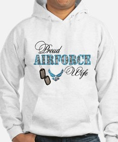 Proud Air Force Wife Jumper Hoody