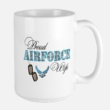 Proud Air Force Wife Large Mug