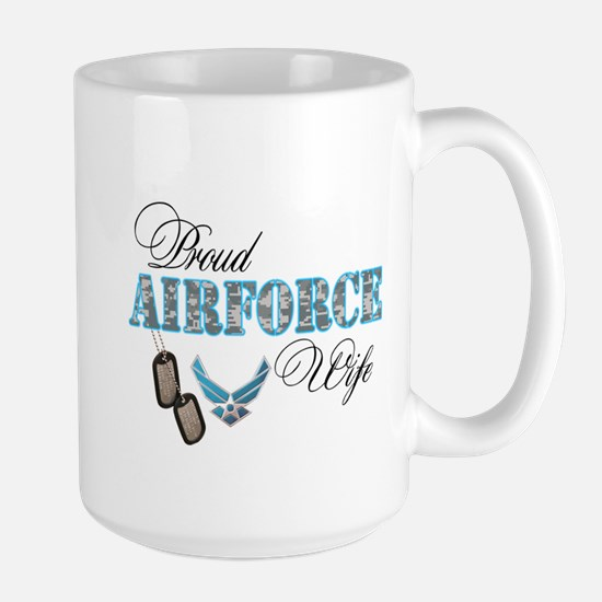 Proud Air Force Wife Large Mug