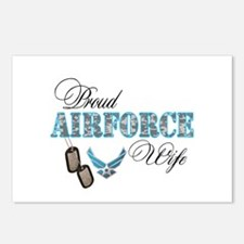 Proud Air Force Wife Postcards (Package of 8)