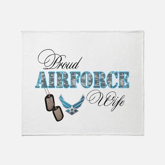 Proud Air Force Wife Throw Blanket