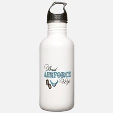 Proud Air Force Wife Water Bottle