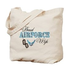 Proud Air Force Wife Tote Bag