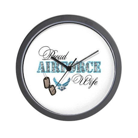 Proud Air Force Wife Wall Clock