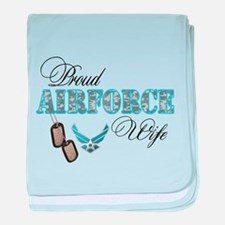 Proud Air Force Wife baby blanket