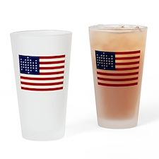 The Union Civil War Flag Pint Glass