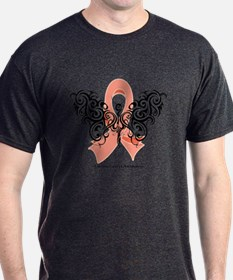 Uterine Cancer Tribal T-Shirt