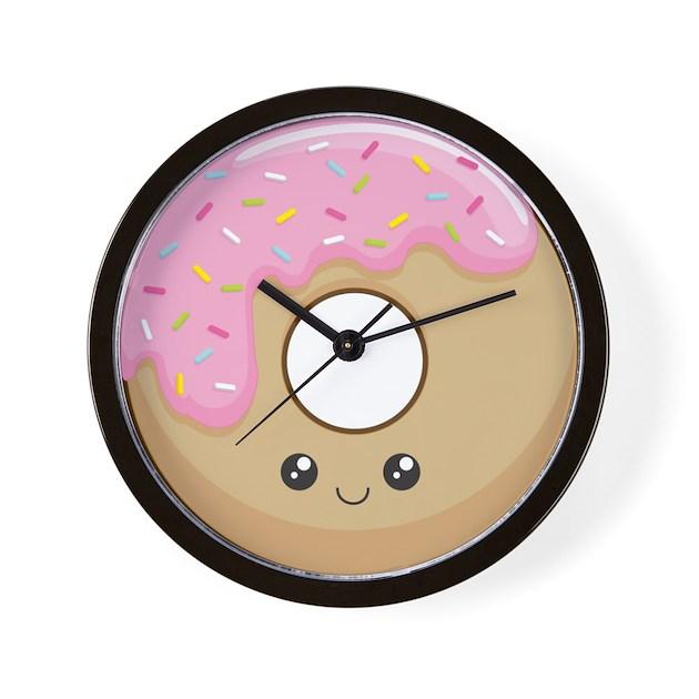 Donut Wall Clock By Kimchikawaii