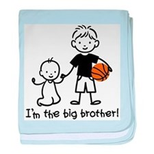Big Brother - Stick Character baby blanket
