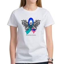 Thyroid Cancer Tribal Butterfly Tee