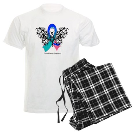 Thyroid Cancer Tribal Butterfly Men's Light Pajama