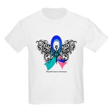 Thyroid Cancer Tribal Butterfly T-Shirt