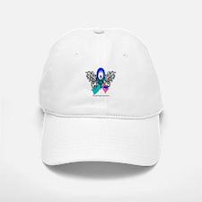 Thyroid Cancer Tribal Butterfly Baseball Baseball Cap