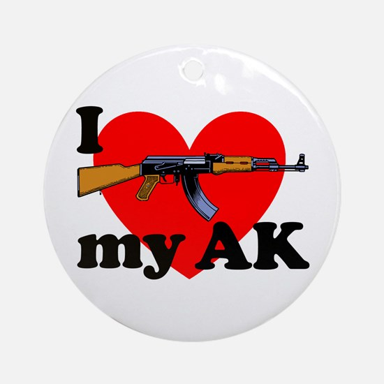 Love my AK Ornament (Round)