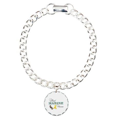 Proud Marine Fiancee Charm Bracelet, One Charm