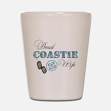 Proud Coast Guard Wife Shot Glass