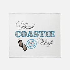 Proud Coast Guard Wife Throw Blanket