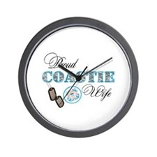 Proud Coast Guard Wife Wall Clock