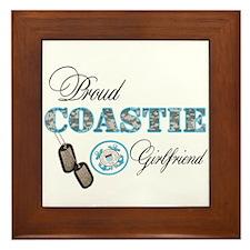 Proud Coast Guard Girlfriend Framed Tile