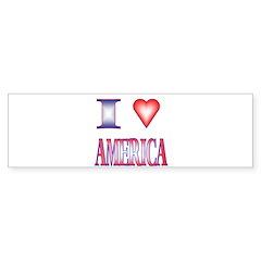 I Love America Bumper Bumper Sticker
