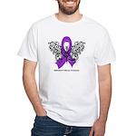 Alzheimer's Disease Tribal White T-Shirt