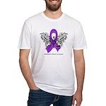 Alzheimer's Disease Tribal Fitted T-Shirt