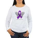 Alzheimer's Disease Tribal Women's Long Sleeve T-S