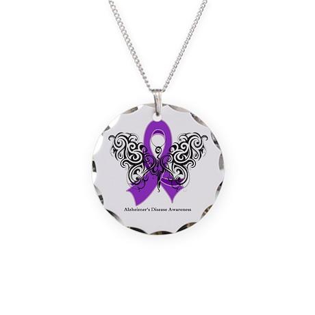 Alzheimer's Disease Tribal Necklace Circle Charm