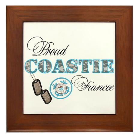 Proud Coast Guard Fiancee Framed Tile