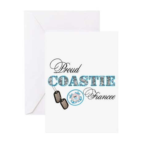 Proud Coast Guard Fiancee Greeting Card
