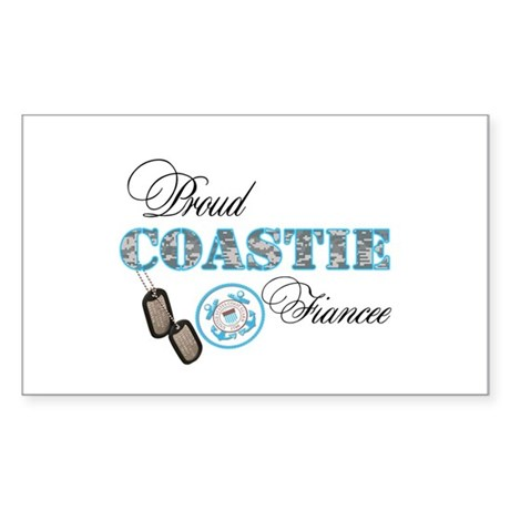 Proud Coast Guard Fiancee Sticker (Rectangle)