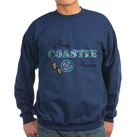 Proud Coast Guard Fiancee Sweatshirt (dark)