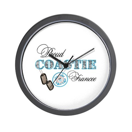 Proud Coast Guard Fiancee Wall Clock