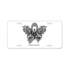 Diabetes Tribal Butterfly Aluminum License Plate