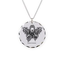 Diabetes Tribal Butterfly Necklace