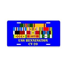 USS Bennington CV-20 Aluminum License Plate